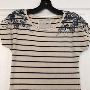 Sequined T-shirt dress